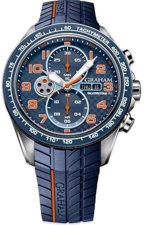 Graham Silverstone RS Racing Blue and Orange Men's Watch 2STEA.U04A.K117F