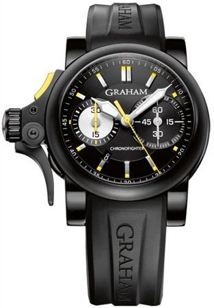 Graham Chronofighter Trigger R.A.C. Black And Yellow Men's Watch 2TRAB.B01A