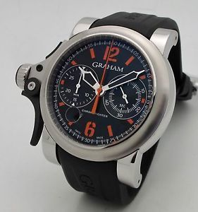Graham Chronofighter Trigger R.A.C. Black and Orange Men's Watch 2TRBS.B42A