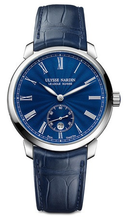 Ulysse Nardin Classico  Blue Dial Alligator leather Men's Watch 3203-136LE-3/E3