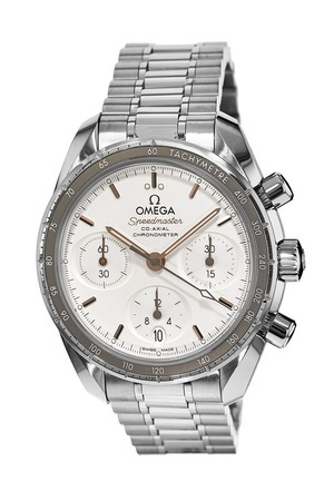 Omega Speedmaster Co-Axial Chronograph 38mm Silver Dial Stainless Steel Unisex Watch 324.30.38.50.02.001