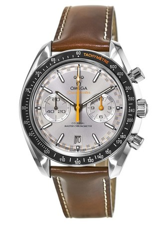 Omega Speedmaster Racing Chronometer Chronograph Brown Leather Men's Watch 329.32.44.51.06.001