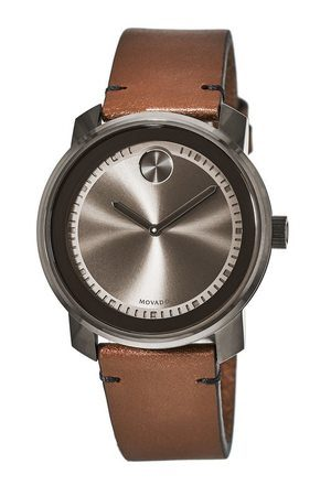 Movado Bold  Swiss Rustic Brown Leather Strap Men's Watch 3600366