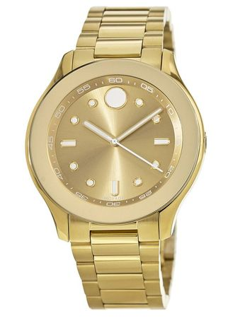 Movado Bold  38mm Gold Tone Steel Women's Watch 3600416