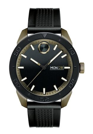 Movado Bold  Black Dial Black Rubber Men's Watch 3600452