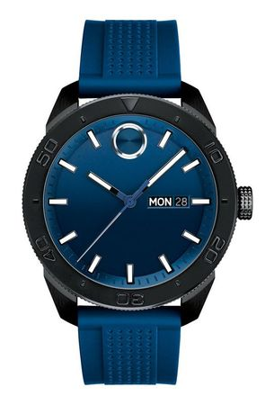 Movado Bold  Blue Dial Blue Rubber Strap Men's Watch 3600459