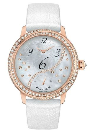 Blancpain Ladies' Collection Off Center Hour Retrograde Seconds  Women's Watch 3650a-3754-58b
