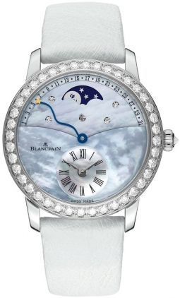 Blancpain Ladies' Collection Ladies Retrograde Moonphase Calendar  Women's Watch 3653-1954L-58B