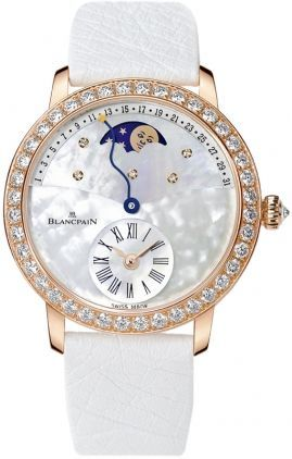 Blancpain Ladies' Collection Ladies Retrograde Moonphase Calendar  Women's Watch 3653-2954-58B