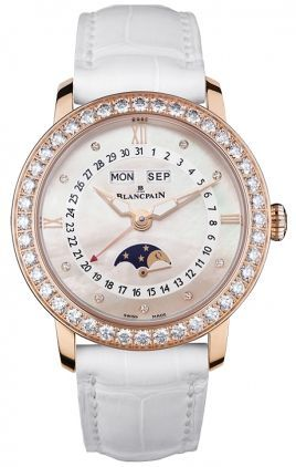 Blancpain Ladies' Collection Ladies Complete Calendar Moonphase  Women's Watch 3663-2954-55B