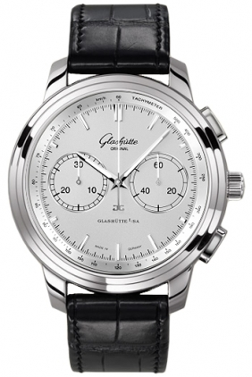 Glashutte Original Quintessentials Senator Chronograph XL  Men's Watch 39-34-21-42-04