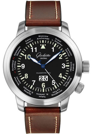 Glashutte Original 20th Century Vintage Senator  Navigator Worldview  Men's Watch 39-47-07-07-04