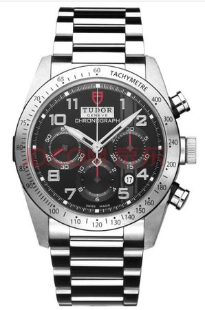 Tudor Fastrider Chronograph Black Dial Steel Men's Watch 42000-95730BLK