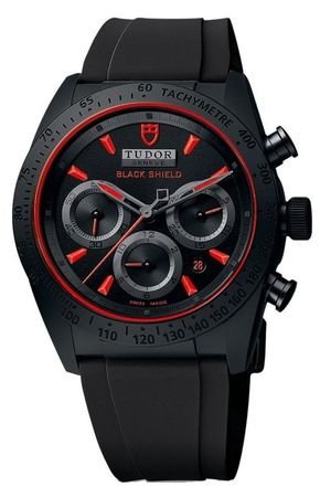 Tudor Fastrider Blackshield Rubber Strap Men's Watch 42000CR-BKSBKRS