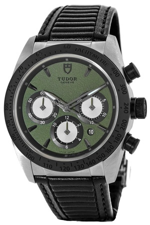 Tudor Fastrider Chronograph Green Dial Rubber Strap Men's Watch 42010N-0004