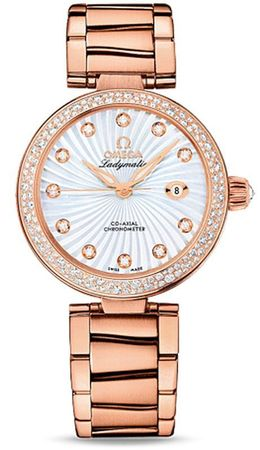 Omega De Ville  34mm Red Gold Diamond Watch Women's Watch 425.65.34.20.55.003