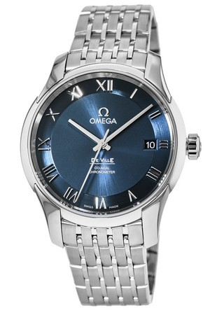 Omega De Ville Chronometer Co-Axial Calibre 8500 Blue Dial Men's Watch 431.10.41.21.03.001