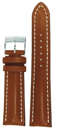 Breitling Leather 24-20mm Gold Calfskin Men's Strap with Buckle 439X-A20BA.1