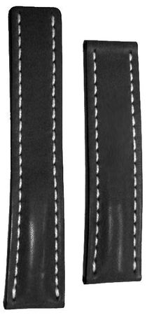 Breitling Leather 24-20mm Black Calf Deployment Men's Strap 442X