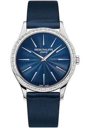 Patek Philippe Calatrava  Night Blue Dial Women's Watch 4897/300G-001