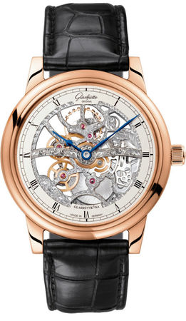 Glashutte Original Quintesssentials Senator Manual Winding Skeletonized  Men's Watch 49-18-01-05-30