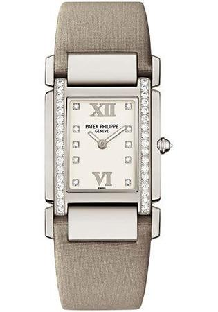 Patek Philippe Twenty-4  White Gold Diamond Women's Watch 4920G-010