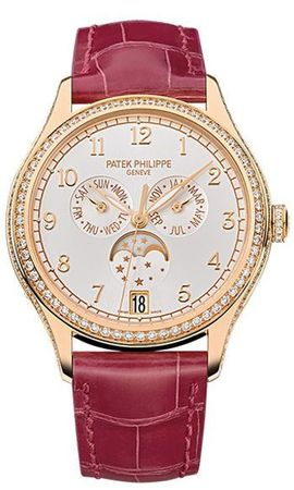 Patek Philippe Complications  Silver Sunburst Dial 18K Rose Gold Automatic Women's Watch 4947R
