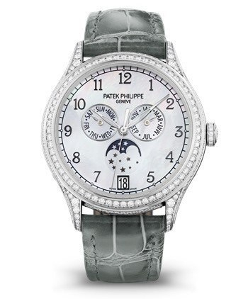 Patek Philippe Complications Annual Calendar White Gold Diamonds Women's Watch 4948G-010