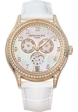 Patek Philippe Complications Annual Calendar Rose Gold Diamonds Women's Watch 4948R-001