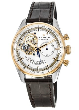 Zenith El Primero Chronomaster Silver Open Dial Leather Strap Men's Watch 51.2080.4021/01.C494
