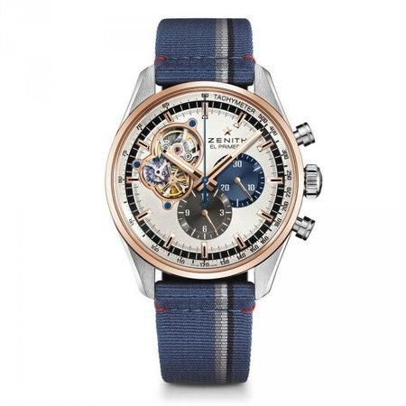 Zenith El Primero Chronograph Blue Fabric Men's Watch 51.2080.4061/69.C802