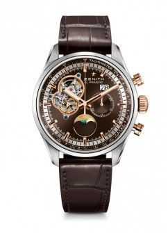 Zenith El Primero Chronomaster Brown Open Dial Leather Strap Men's Watch 51.2161.4047/75.C713