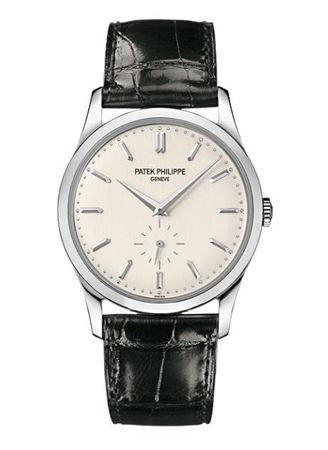 Patek Philippe Calatrava  18kt White Gold Silver Dial Men's Watch 5196G-001