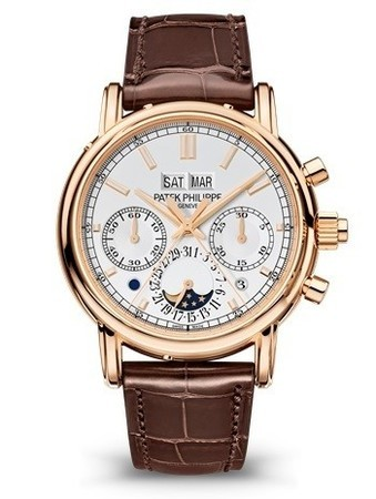 Patek Philippe Grand Complications  Silver Dial Brown Leather Men's Watch 5204R-001