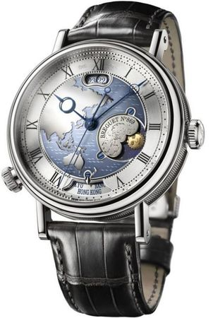 Breguet Classique  Hora Mundi Men's Watch 5717PT/AS/9ZU