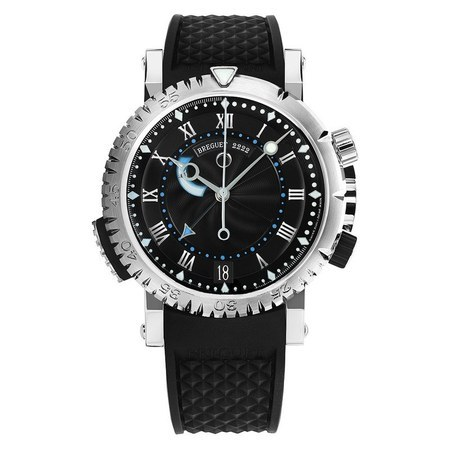 Breguet Marine Automatic White Gold Black Rubber Men's Watch 5847BB/Z2/5ZV