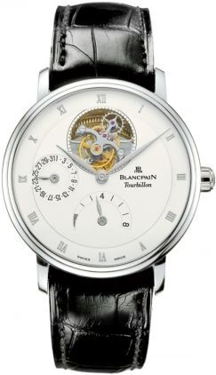 Blancpain Villeret Tourbillon 8 Day Power Reserve  Men's Watch 6025-1542-55B