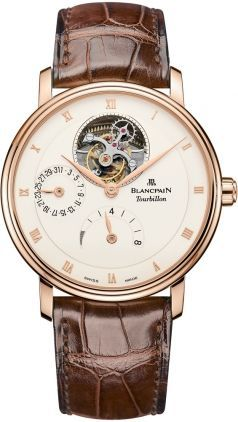 Blancpain Villeret Tourbillon 8 Day Power Reserve  Men's Watch 6025-3642-55B