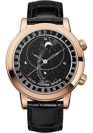 Patek Philippe Grand Complications Celestial Moon Age Rose Gold Men's Watch 6102R-001