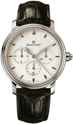 Blancpain Villeret Automatic Chronograph  Men's Watch 6185-1127-55B