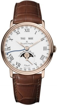 Blancpain Villeret Complete Calendar 8 Jours/Limited Edition  Men's Watch 6639-3631-55B