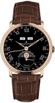 Blancpain Villeret Complete Calendar 8 Jours  Men's Watch 6639-3637-55B