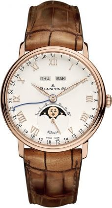Blancpain Villeret Complete Calendar 8 Jours  Men's Watch 6639-3642-55B