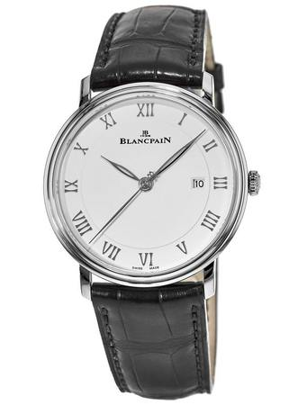 Blancpain Villeret Automatic Ultra Slim Silver Dial Leather Strap Men's Watch 6651-1127-55B