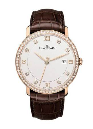 Blancpain Villeret Automatic Diamond Face and Bezel Men's Watch 6651-2987-55B