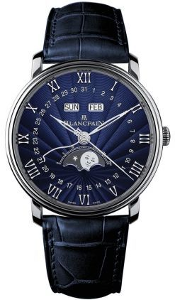Blancpain Villeret Complete Calendar Moonphase  Men's Watch 6654-1529-55B