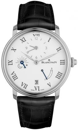 Blancpain Villeret 8 Days Half Timezone  Men's Watch 6661-1531-55B