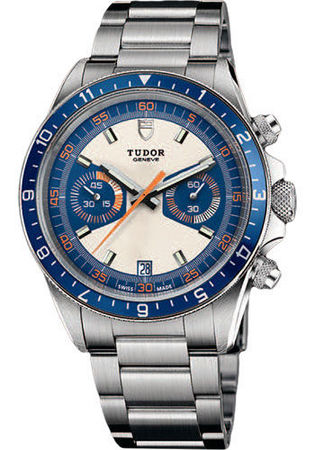 Tudor Heritage  Chronograph Blue Steel Men's Watch 70330B-95740