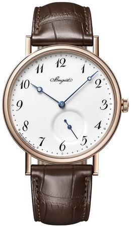 Breguet Classique Automatic Rose Gold Brown Leather Men's Watch 7147BR/29/9WU
