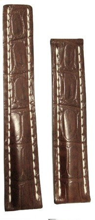 Breitling Leather 20-18mm Brown Crocodile Leather Men's Strap 725P